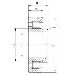 190 mm x 340 mm x 92 mm  ISO NH2238 cylindrical roller bearings