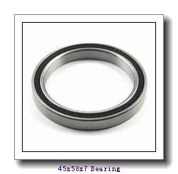45 mm x 58 mm x 7 mm  NSK 6809NR deep groove ball bearings