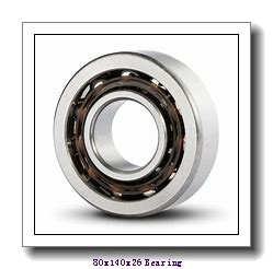 80 mm x 140 mm x 26 mm  FBJ QJ216 angular contact ball bearings