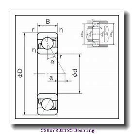 530 mm x 780 mm x 185 mm  FAG 230/530-E1A-MB1 spherical roller bearings