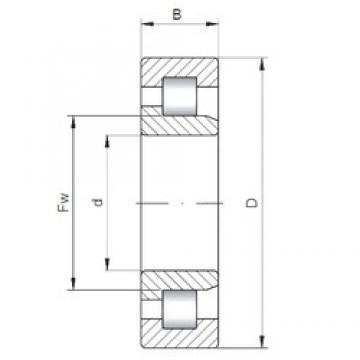 530 mm x 780 mm x 185 mm  ISO NJ30/530 cylindrical roller bearings