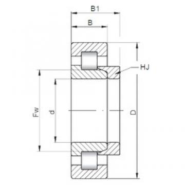 170 mm x 310 mm x 52 mm  ISO NH234 cylindrical roller bearings