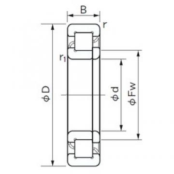 170 mm x 310 mm x 52 mm  NACHI NUP 234 E cylindrical roller bearings