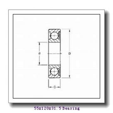 55 mm x 120 mm x 29 mm  FBJ 31311 tapered roller bearings