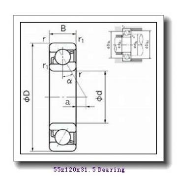 55 mm x 120 mm x 29 mm  SNR 30311A tapered roller bearings