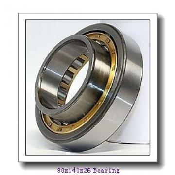 80 mm x 140 mm x 26 mm  ISO NF216 cylindrical roller bearings