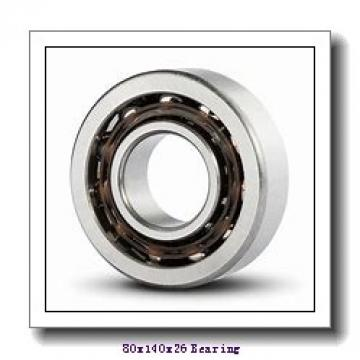 80 mm x 140 mm x 26 mm  NSK 6216ZZ deep groove ball bearings
