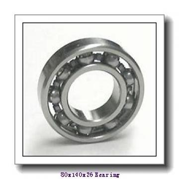 80 mm x 140 mm x 26 mm  NACHI 6216ZNR deep groove ball bearings