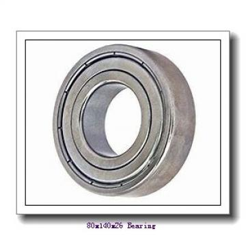 80 mm x 140 mm x 26 mm  NTN 6216ZZ deep groove ball bearings