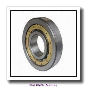 80 mm x 140 mm x 26 mm  NSK 7216 B angular contact ball bearings
