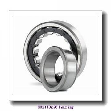 80 mm x 140 mm x 26 mm  ISB NU 216 cylindrical roller bearings