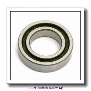 120 mm x 180 mm x 28 mm  NACHI 7024CDB angular contact ball bearings