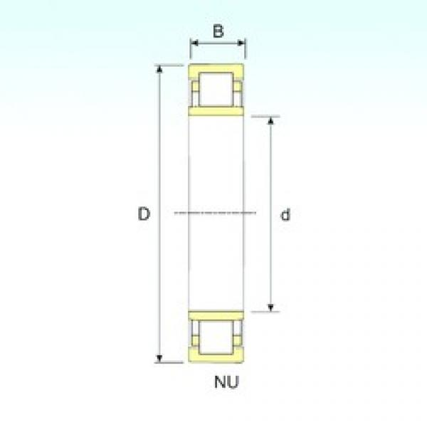 50 mm x 110 mm x 27 mm  ISB NU 310 cylindrical roller bearings #2 image